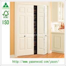Двойного Качания Белый Передний Главный Вход Деревянные Двери