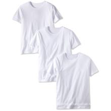 Novo Design 100% Algodão Tripulação Pescoço Camiseta Em Branco