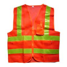 Orange Mesh-Reißverschluss-Tasche hohe Sichtbarkeit reflektierende Sicherheitsweste (YKY2850)