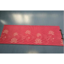 PVC silk printed yoga mat