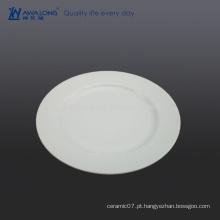 Prato de jantar branco puro de 8 polegadas