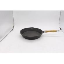 Poêle à frire en fonte avec manche en bois