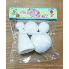 Manualidades con bolas de espuma de poliestireno y espuma de poliestireno