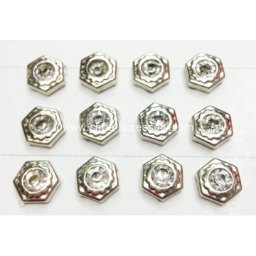 Hexagon Rhinestone Rivets for Shoes and Garments