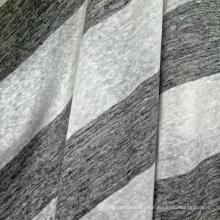 Linho Tecido de malha Stripe para t-shirt (QF14-1545-BS)