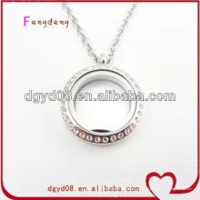 Magnet offene Glas Medaillon Halskette