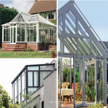 Aluminum Sun Room with White Color Skylight Slant Roof Design (FT-S)