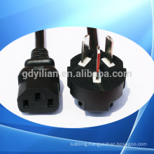 ODM customized European plug power cord/cable/wire 2 circles pin/ Single head