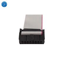 Cable de cinta plana personalizado de 16 maneras de 1.27mm con conector IDC de 2.54 mm