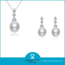 Nouveau ensemble de bijoux de perles brillantes colorées pour la mariée (J-0180)