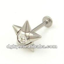 Aço inoxidável labret stud piercing labret lábio jóias