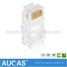RJ45 8P8C conector enchufado dorado cat5e conector / systimax keystone jack conector modular