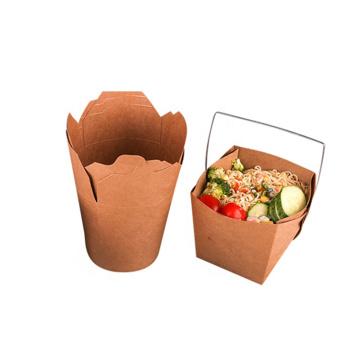 Brotdose aus Papier für Nudeln rund
