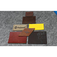 China Factory Cheap High Quality Brown Leather Cloth Tag for Denim