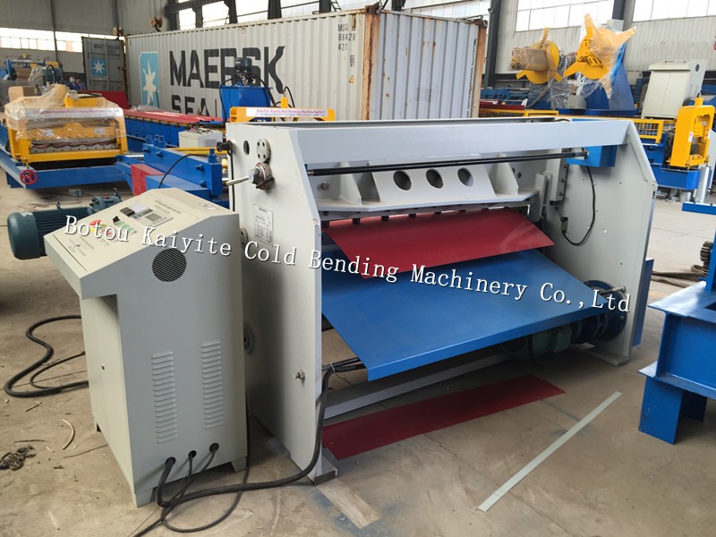 steel coil leveling and cutting machine