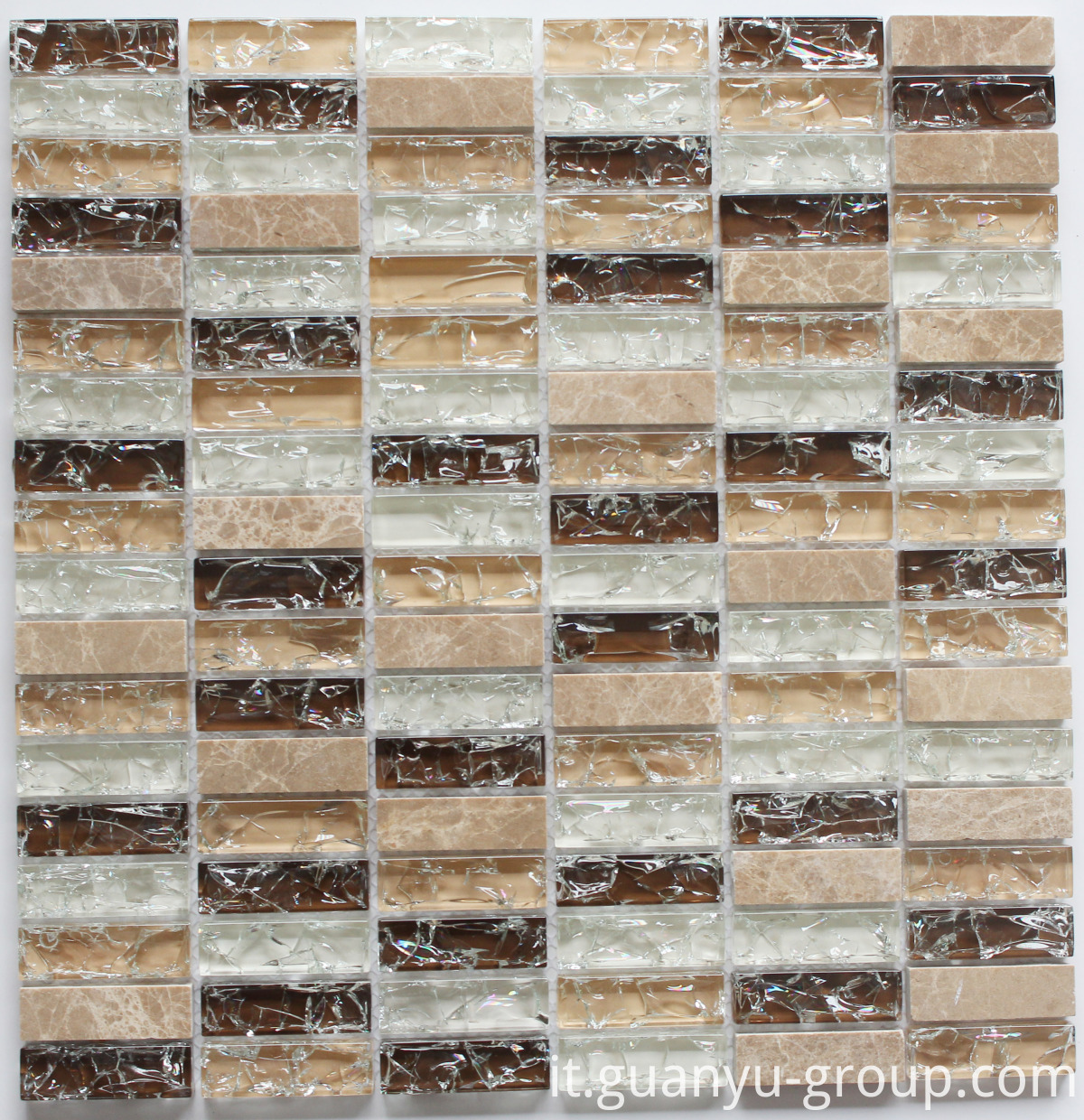 Cracked Glass And Marble Mosaic BL8503