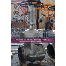 Válvula de compuerta de bonete atornillada Class300 BW Ends