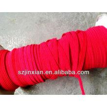 Cordón elástico elástico plano del ployester de 0.8-12m m