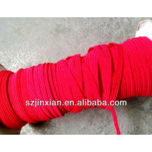 0.8-12mm red ployester flat elastic bungee cord