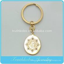 TKB - K0005 Virgen María Colgante de Jesús con llavero de cristal