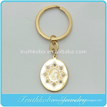 TKB - K0005 Blessed Virgin Mary Jesus Pendant with Crystal Keychain