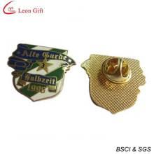 Pinos de lapela Metal ouro esmalte logotipo (LM1757)