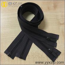 black antique brass open-end metal zipper