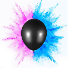 Gender Reveal Balloon mit Konfetti oder Puder