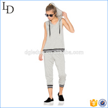 Vsrsity muscle hoodies ladies gym sports wear hoodies and pants sets