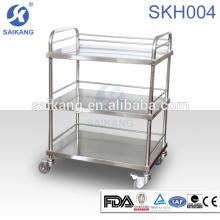 Equipamento de aço inoxidável do trole do tratamento dos cuidados do instrumento médico SKH007-3