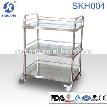SKH007-3 Medizinische Instrument Edelstahl Pflege Behandlung Trolley Ausrüstung