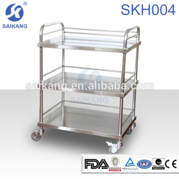SKH007-3 Medical Instrument Stainless Steel Nursing Treatment Trolley Equipment