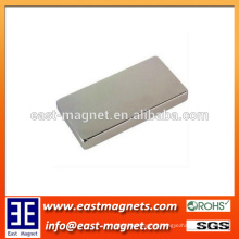 Strong Permanent Nickel Block Sintered Neodymium Magnet/custom card shape ndfeb magnet for sale