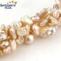Freshwater 7-8mm Pearl Strand Beautiful Keshi Peach Pearl Strand