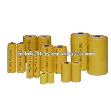 ni-cd rechargeable battery C SIZE AA/AAA/C/D9V PVC jacket