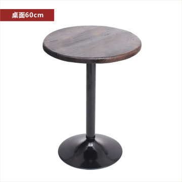 carbonize solid wood bar table