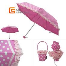 Sweety coeurs 5 fois parapluie plié (YS-5F1006A)