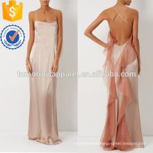 Rose Ruffles Satin Evening Dress Manufacture Wholesale Fashion Women Apparel (TA4073D)