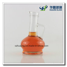 220ml Fancy Shape Flask Glass Cooking Oil Olive Oil Bottles with Handle