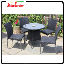Shinygarden leisure beatiful rattan wicker dining set table and chair