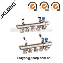 Válvula do coletor de latão F614 para sistema de aquecimento