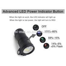 Lampe de plongée à LED Luminée de haute qualité de 5000 Lumen imperméable à l'eau 100 mètres