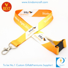High Quality Customized Logo Printed Polyester Lanyard with Safety Buckle From China