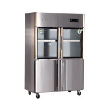 Четыре двери Двухтемпературный кухонный холодильник