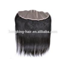 100% de cheveux humains vierge non traitée pas cher dentelle fermeture avant 13 * 4