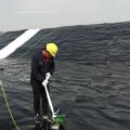 Грубая поверхность пруда лайнера HDPE черный рулон геомембраны