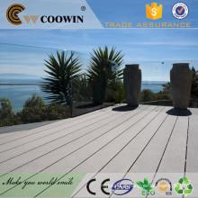 Light Grey gravado à beira-mar WPC madeira projetado piso laminado