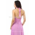 High End maßgeschneiderte Kleid Bodenlangen V-Ausschnitt ärmelloses Lady Fashion sexy Abendkleid