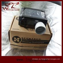 Caza Chronoscope X3200 Cronógrafo Airsoft táctico velocidad lector