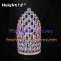 12inch Big AB Diamond Pageant Crowns